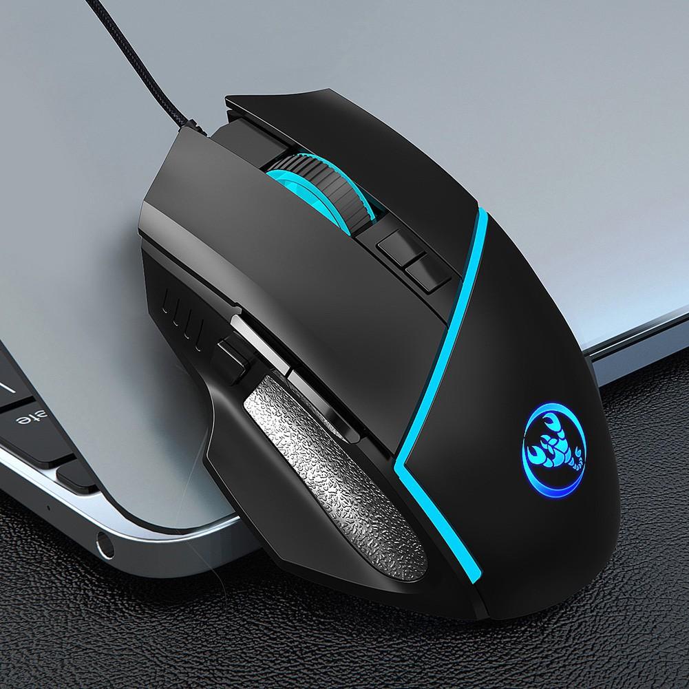 Chuột Gaming Hel + Đèn Led Nhiều Màu Có Thể Điều Chỉnh 6400dpi