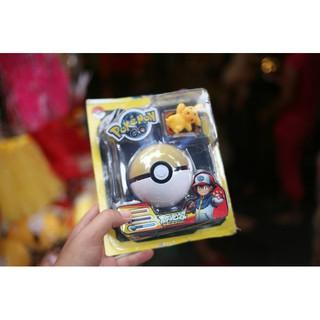 Quả cẩu Pokemon Go màu đỏ trắng có Pikachu bên trong