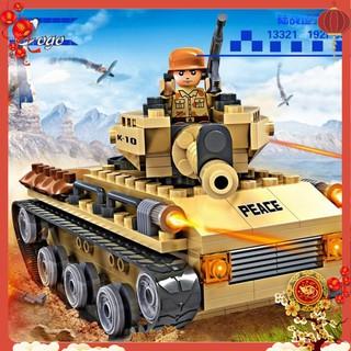 Đồ chơi xếp hình LEGO loại MINI xe tăng chiến đấu