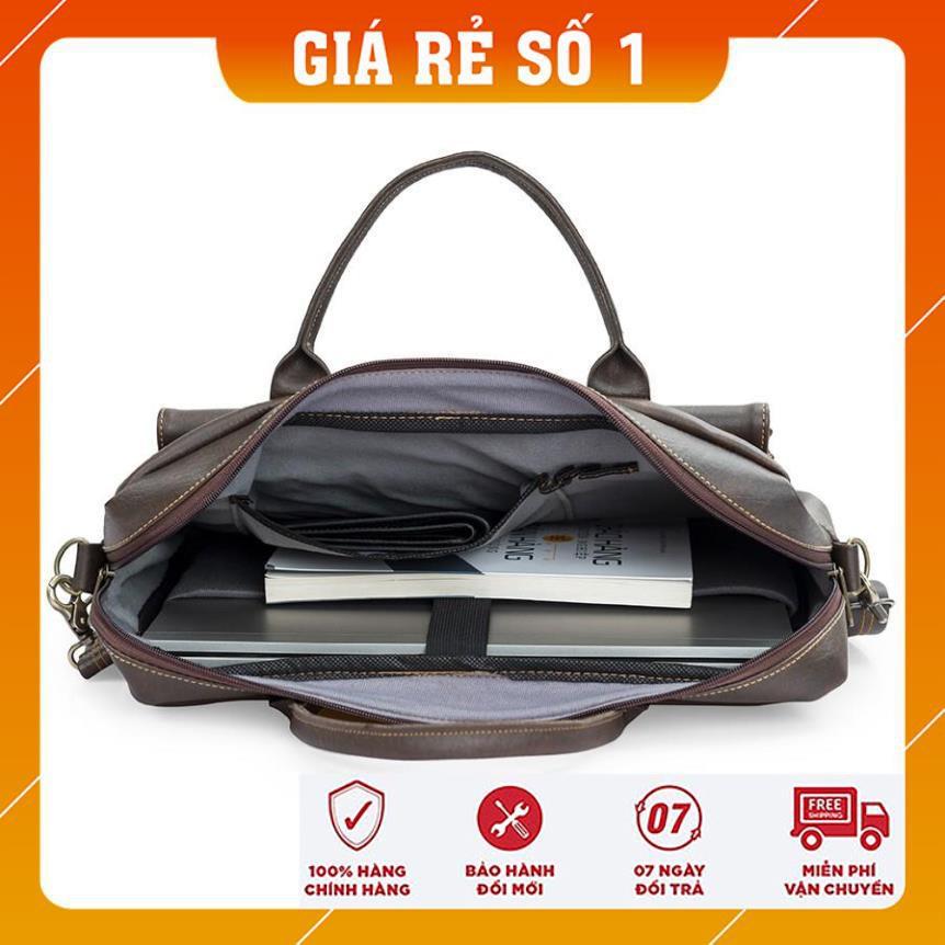 Cặp laptop - Túi xách công sở - Hanama Tom 19 - Túi da chống nước