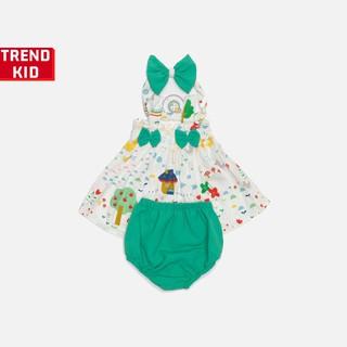 Bộ quần áo cho bé gái, bé sơ sinh nơ xanh Michley thumbnail