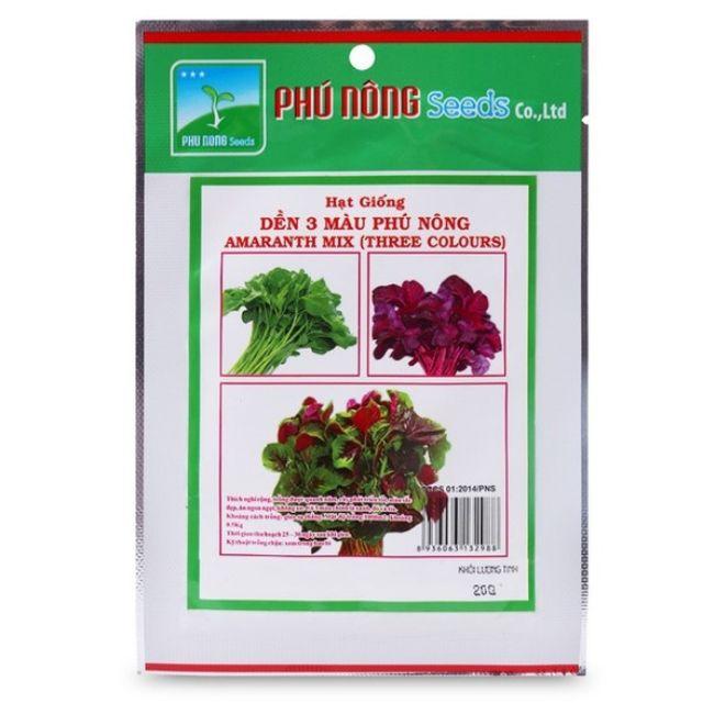 Hạt giống dền 3 màu Phú Nông 20gram
