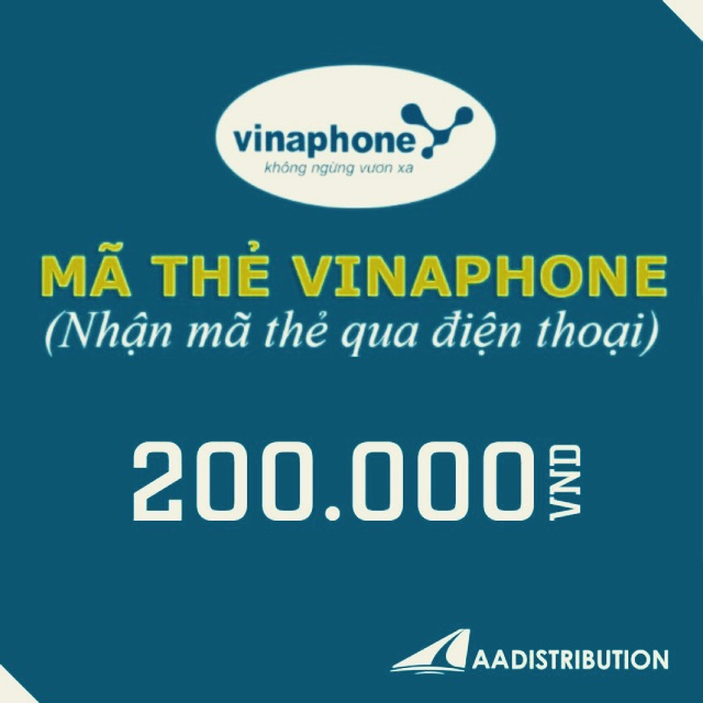 Mã thẻ/Nạp tiền Vinaphone 200k