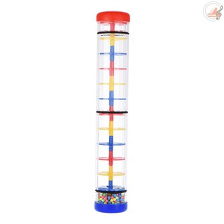 H&Y Colorful 12″ Rainmaker Rain Stick Musical Instrument Toy for Toddler Kids Games KTV Party
