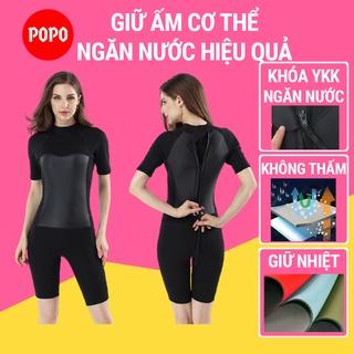 Bộ đồ lặn biển liền thân cộc tay nữ dày 2mm(MY071,072) POPO quần áo lặn biển nữ giữ ấm cơ thể SPORTY thumbnail