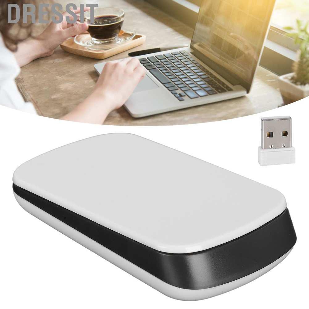 Chuột Cảm Ứng Không Dây 2.4ghz 1200dpi 2 Phím Cho Laptop