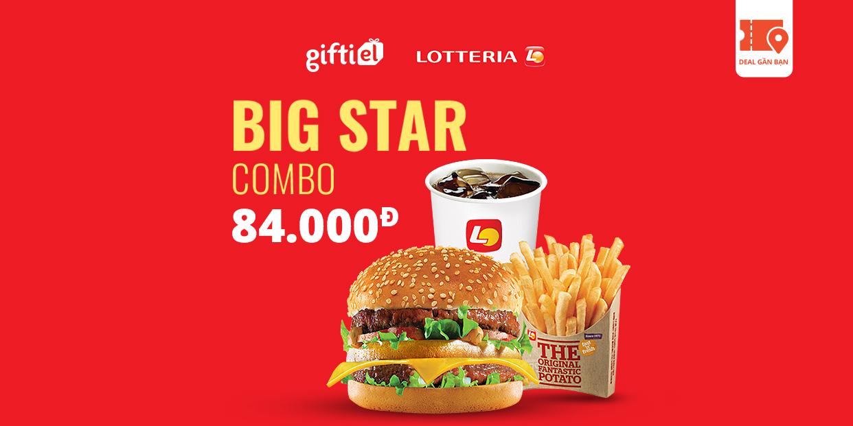 E Voucher Big star combo tại Lotteria