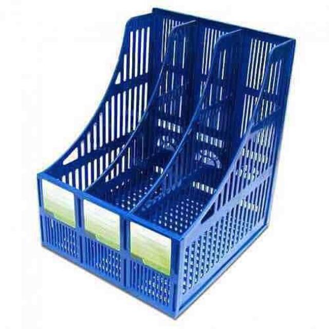 Khay đựng tài liệu nhựa 3 ngăn / Kệ rổ xéo nhựa 3 ngăn / Kệ ráp nhựa  3 ngăn - 14832162 , 2583720442 , 322_2583720442 , 28000 , Khay-dung-tai-lieu-nhua-3-ngan--Ke-ro-xeo-nhua-3-ngan--Ke-rap-nhua-3-ngan-322_2583720442 , shopee.vn , Khay đựng tài liệu nhựa 3 ngăn / Kệ rổ xéo nhựa 3 ngăn / Kệ ráp nhựa  3 ngăn
