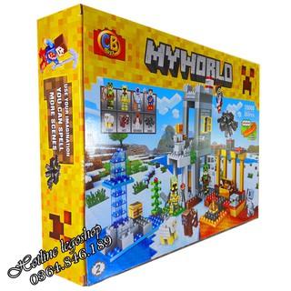 Bộ Lego Ghép Hình MineCraft My World Tàu Hải Tặc. Có 282 chi tiết. Lego Ninjago Lắp Ráp Đồ Chơi Cho Bé