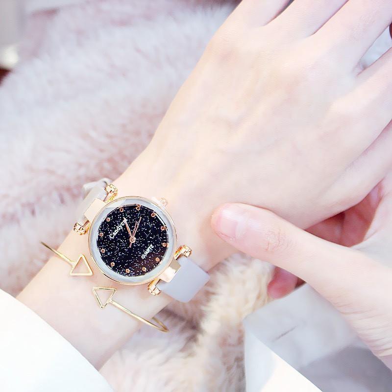 Đồng hồ nữ Candycat mặt kim tuyến phong cách Hàn Quốc DH25