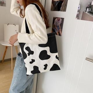 Túi Vải Nữ Cỡ Lớn In Hình Bò Sữa
