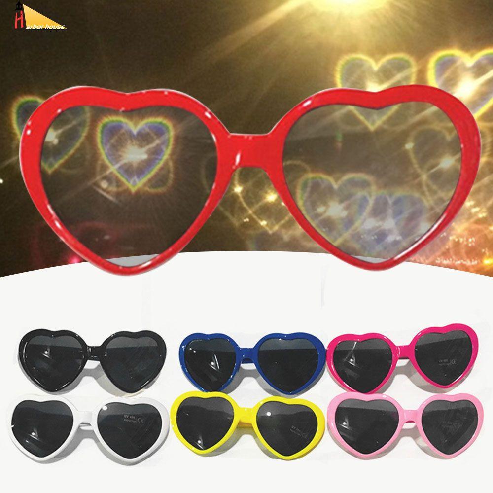 Yum Mắt kính hình trái tim thay đổi hiệu ứng đặc biệt có hiệu ứng sáng tạo