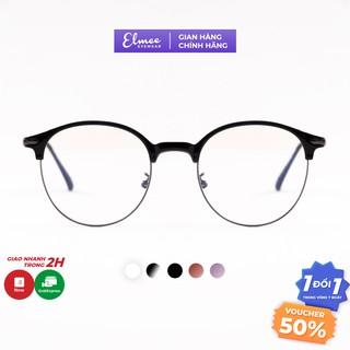 Gọng kính nam nữ Elmee mắt kính cận tròn gọng kính kim loại nhiều màu E2736 thumbnail