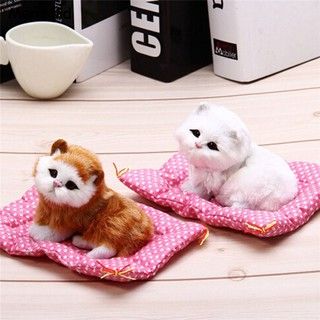 Animal Plush Sleeping Cats Toy with Sound Kids Birthday