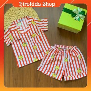 Bộ Pijama mặc nhà họa tiết tay ngắn quần đùi cho bé trai (12-30kg)