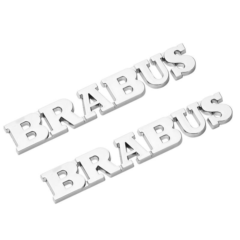 benz brabus โลหะ 3 d เบนซ์ดัดแปลงรถสัญลักษณ์ป้ายสติ๊กเกอร์