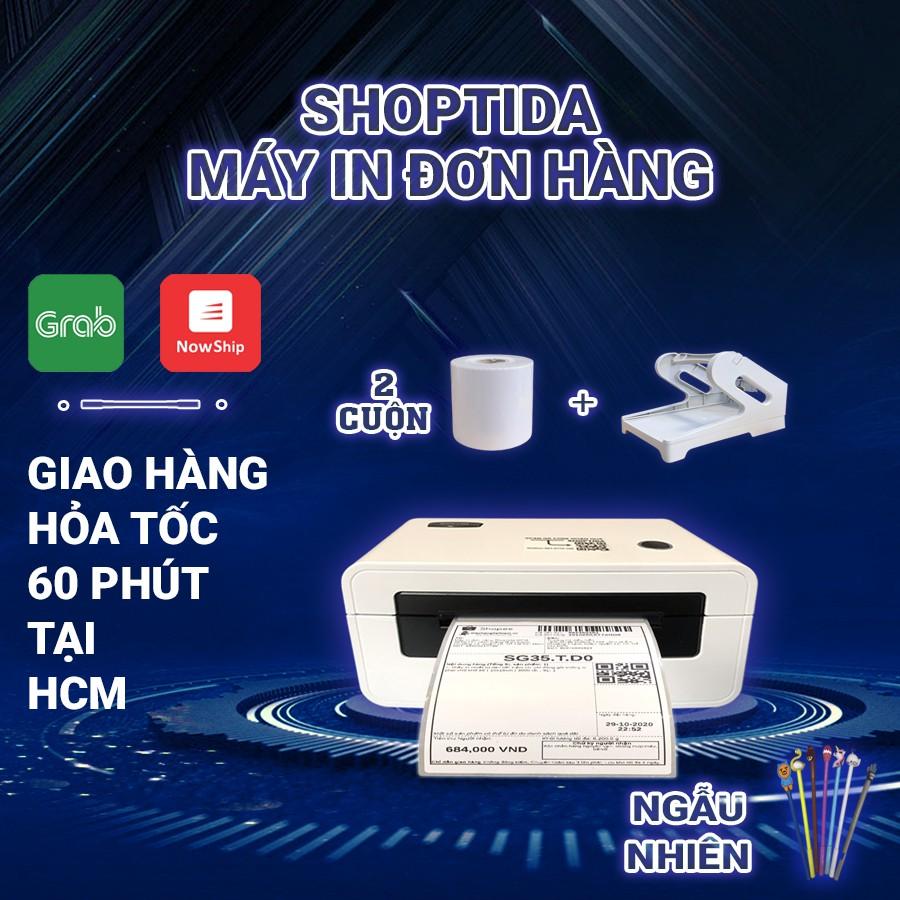 Máy in đơn hàng Shoptida SP46 kèm 600 giấy in nhiệt 7*10cm và khay, combo máy in nhiệt giấy tự dán bảo hành 12 tháng