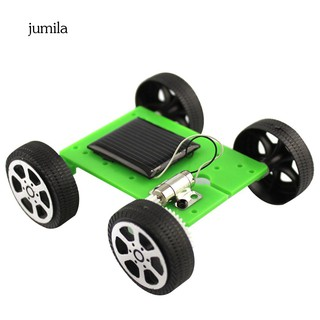 JL_Mini DIY Solar Panel Powered Car Vehicle Model Kids Science Educational Toy