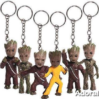 ♛BA♚New 1x Guardians of the Galaxy Vol.2 Baby Groot 3″ Key Chain Figure Statue Gift Toy
