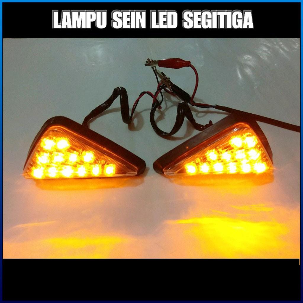 Đèn LED Xi Nhan Hình Tam Giác Chuyên Dụng Cho Xe Mô Tô CBR 150R R15 GSX R150 Ninja 250 R25