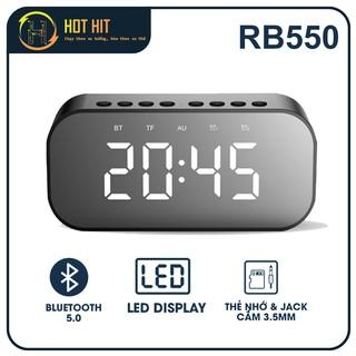 Loa Bluetooth ROBOT RB550 Âm Thanh Tuyệt Vời Kiêm Đồng Hồ Báo Thức Màn Hình Hiển Thị LED