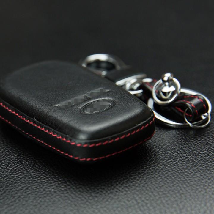 Bao da chìa khóa, da thật 4D, ốp da chìa khóa xe Camry 2019, Innova 2019, Fortuner 2019 3 nút