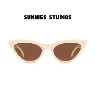 Kính mát Sunnies Studios Gọng Mắt Mèo Zia in Coconut thumbnail