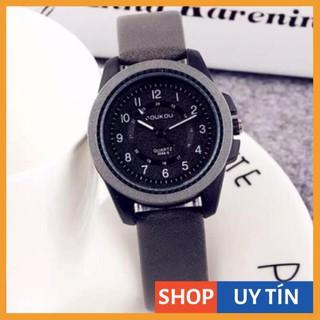 [Hàng Cao Cấp] - Đồng hồ nữ Doukou chính hãng dây da dẻo dai mặt thiết kế thời trang phong cách thumbnail