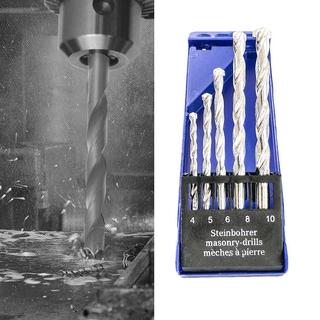 5Pcs Drill-Bit Carpenter Titanium-Coated Woodworking Electric-Drill Plastic Box