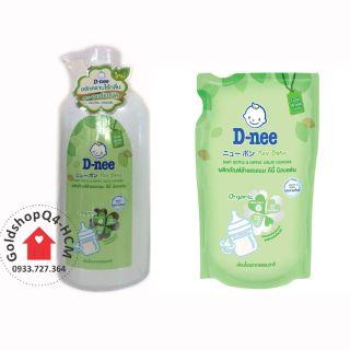 (TÚI CHAI)- Nước Rửa Bình Sữa Dnee Organic túi 600ml chai 620ml - HSD 2022 thumbnail