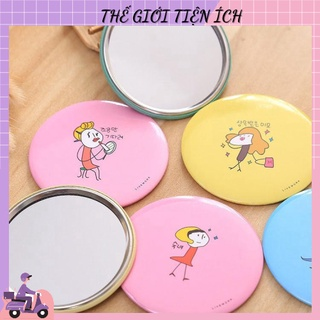 Gương trang điểm mini siêu cute cầm tay bỏ túi Hàn Quốc tiện lợi 1480 the gioi tiện ích 88 thumbnail