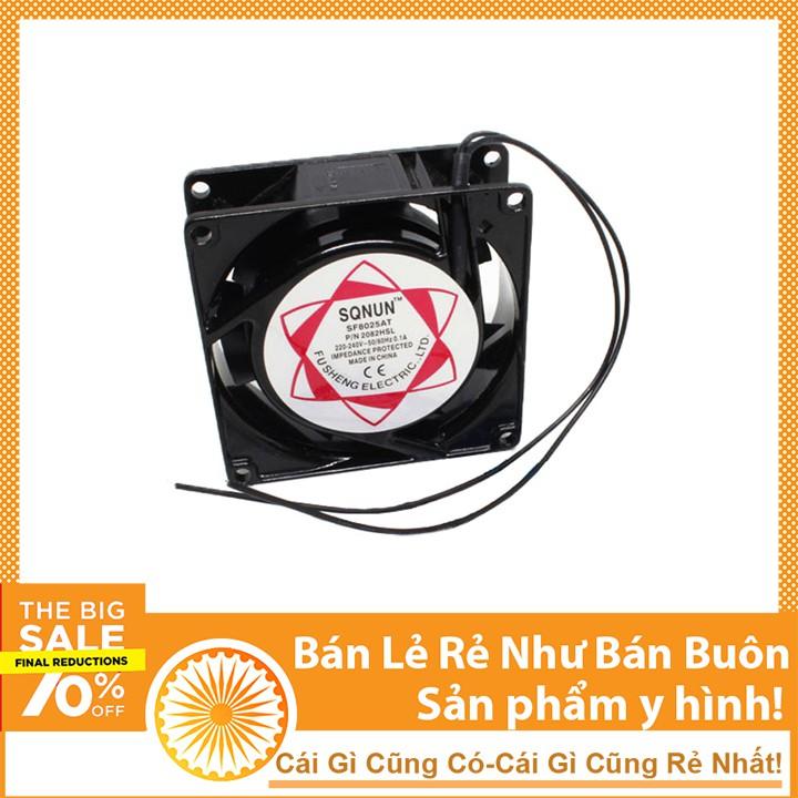 Quạt Tản Nhiệt Sunon 220V 8x8x2.5Cm