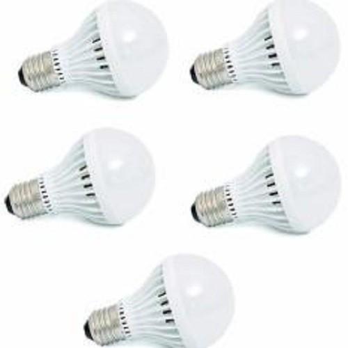 Bộ 5 bóng đèn LED tròn siêu tiết kiệm điện 7W(kín nước)