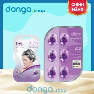 Set Kem ủ tóc - Viên dưỡng tóc Ellips chăm sóc tóc nhuộm toàn diện thumbnail