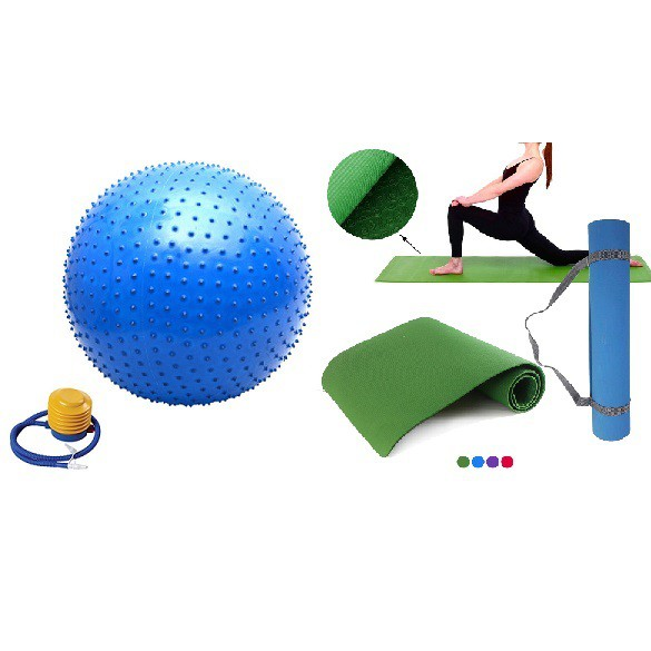 Bóng tập yoga gai 65cm kèm bơm + Thảm tập yoga âu lạc cao cấp - 3594810 , 1271071240 , 322_1271071240 , 268000 , Bong-tap-yoga-gai-65cm-kem-bom-Tham-tap-yoga-au-lac-cao-cap-322_1271071240 , shopee.vn , Bóng tập yoga gai 65cm kèm bơm + Thảm tập yoga âu lạc cao cấp
