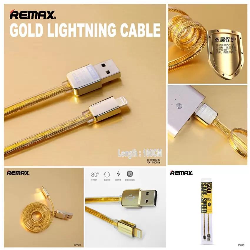 Cáp sạc Iphone Ipad Cổng Lightning Remax Gold, chính hãng.Cáp Sạc IP5, IP6 Remax Gold 1m. - 2799786 , 162496025 , 322_162496025 , 119000 , Cap-sac-Iphone-Ipad-Cong-Lightning-Remax-Gold-chinh-hang.Cap-Sac-IP5-IP6-Remax-Gold-1m.-322_162496025 , shopee.vn , Cáp sạc Iphone Ipad Cổng Lightning Remax Gold, chính hãng.Cáp Sạc IP5, IP6 Remax Gold 1