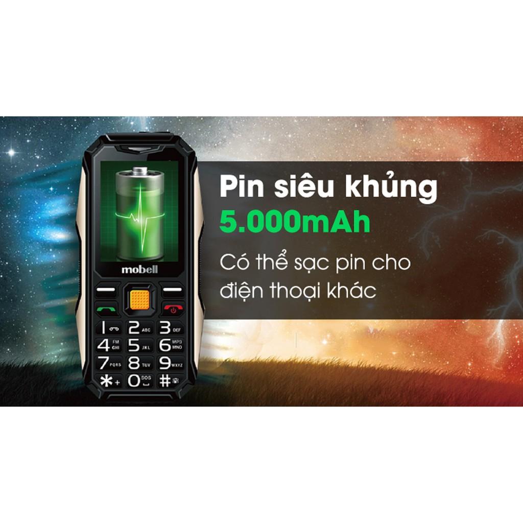 [Freeship toàn quốc từ 50k] Điện thoại Mobell Rock 3 loa to sạc pin cho máy khác