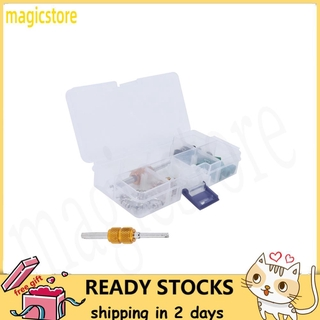 Magicstore 51PCS/Set Air Conditioning Valve Core Remover Tool sealing Gasket A/C Repair for R410/R22