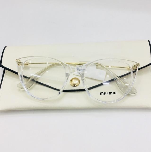 Gọng kính nữ trắng trong HOT nhất - nhận cắt kính cận , viễn , loạn