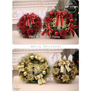 [Giá Tại Xưởng] Vòng Nguyệt Quế Trang Trí Noel Cao Cấp – 2 Size 30cm và 40cm – 2 mẫu