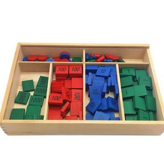 Giáo cụ montessori Hộp trò chơi tem số đồ chơi giáo dục