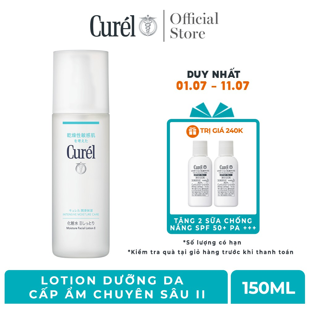 Lotion Dưỡng Da Cấp Ẩm Chuyên Sâu II Curel Intensive Moisture Care Lotion II 150ml