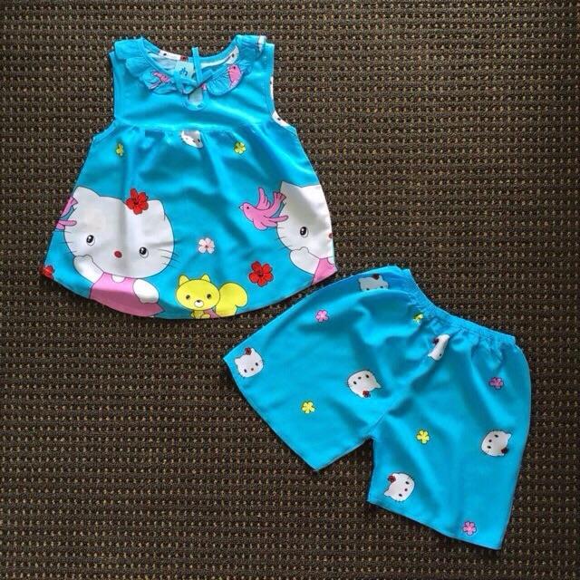 Đồ bộ vải ton - tole (vải lanh) cho bé gái 5