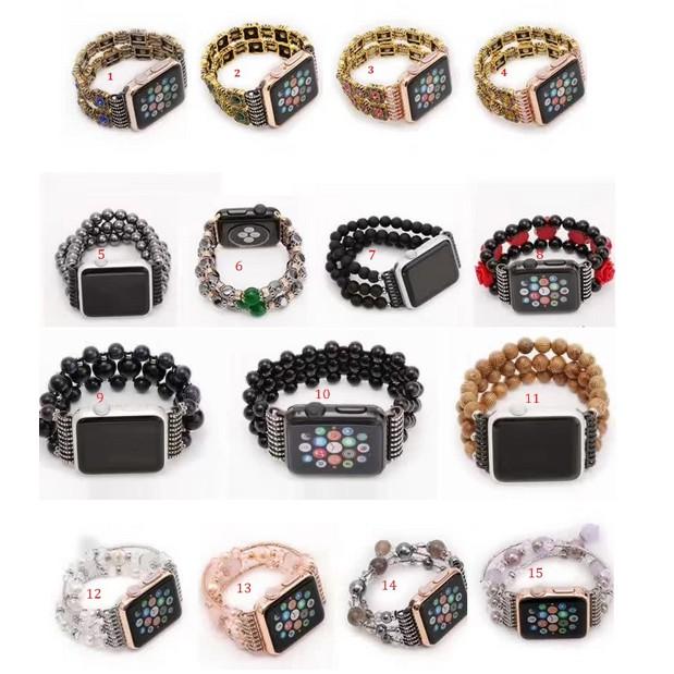 Dây đồng hồ thời trang Apple Watch 38mm (hột xoàn, đính đá)