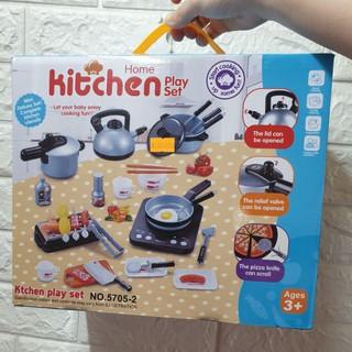 DEAL SỐC GIÁ SỐC- Bộ đồ chơi nấu ăn 36 món kèm thức ăn home kitchen playset