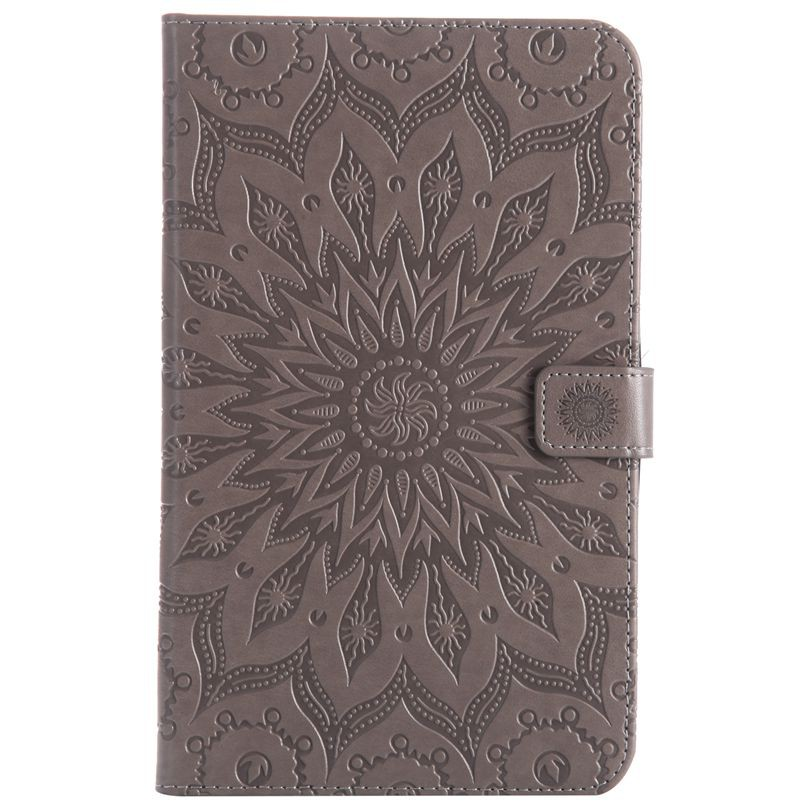 For Samsung GALAXY Tab A 8.0 2017 T385 Gray Sunflower Leather Flip Case Cover