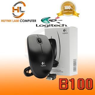 Yêu ThíchChuột máy tính có dây Logitech B100 bấm êm DGW phân phối-DGW