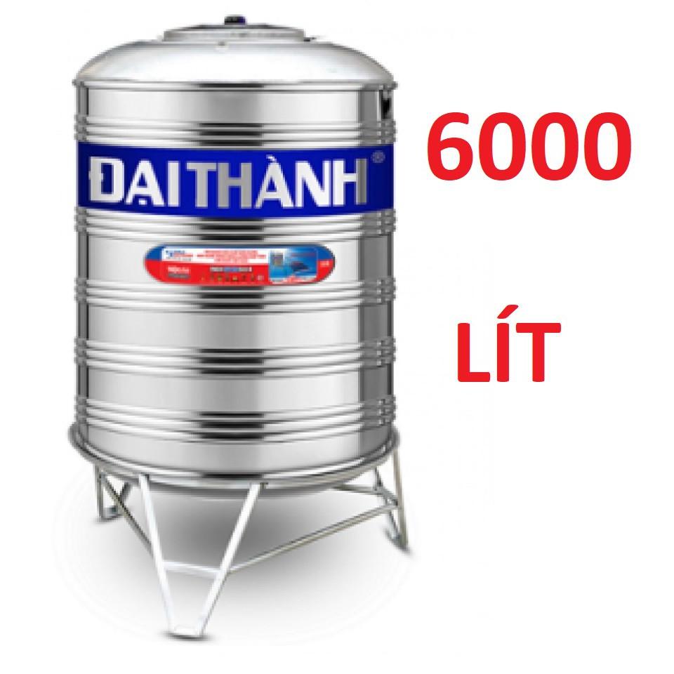 Bồn nước cao cấp inox304 Đại Thành 6000lit, bồn nước inox304, Bảo hành chính hãng 1