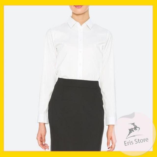 SƠ MI CAO CẤP- Áo sơ mi nữ trắng dài tay ERIS chất đẹp (ảnh thật) ER0033