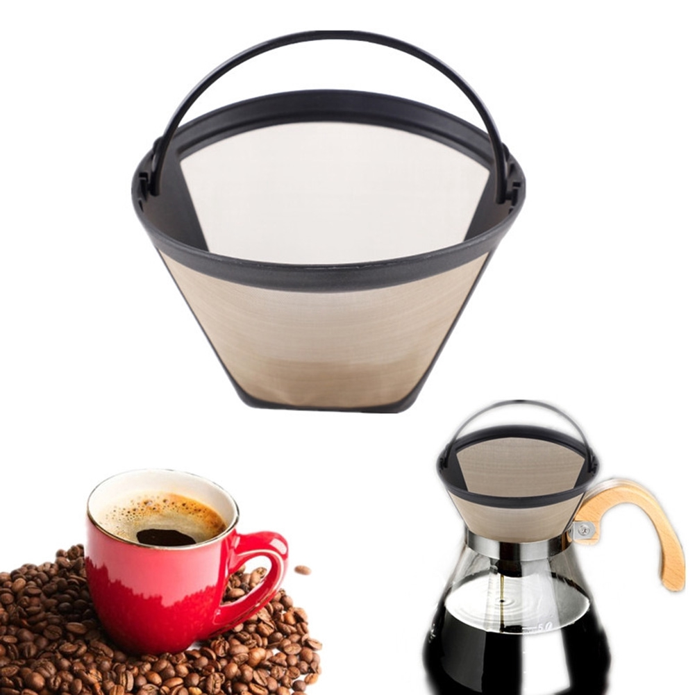 Cafe Replacement Kitchen Tools Strainer Utensils Tea Accessories Reusable Baskets Stainless Steel Coffee Filter Home Use